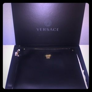 Versace  Unisex Medusa leather clutch